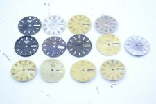 Lot of 12 Seiko 5 Dress Watch Dials 7009 Movement Gold Black and Silver