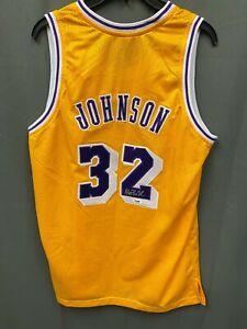 Magic Johnson #32 Signed Lakers Jersey Autograph AUTO PSA/DNA Sticker Only Sz XL