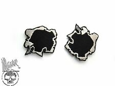 ill Gear LOT of 2 Black Silver Bullet Hole Patch 9mm .223 50 BMG .50