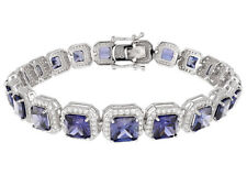 Bella Luce 36.00ct Tanzanite & White Diamond Simulant Sterling Silver Bracelet