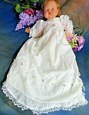 VINTAGE handmade DOLL CLOTHES long CHRISTENING gown & dress set BYE-LO baby 20""