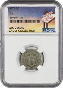 1872 5c NGC Good-06 ex: Las Vegas Collection - Shield Nickel