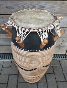 70cm orig Afrika Djembe Trommel Ghana schweres Holz