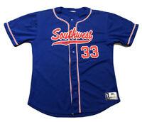 Garbathletics Southwest SW Baseball South West #33 Blue Red Size AXL XL