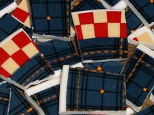 Mosaic Tiles 100 Blue Jean Diner Old Country Diner Red White Blue Check Motif