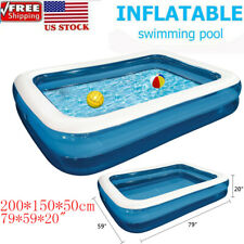 """Inflatable Swimming Pool Family Kids Adult Paddling Pool Outdoor Ground Pool 79"""""""