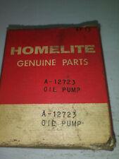 VINTAGE! HOMELITE A-12723 OIL PUMP, HOMELITE GENUINE PARTS!