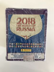 Panini 2018 FIFA World Cup Russia Sticker Box Official Sealed 50 Pack in Box