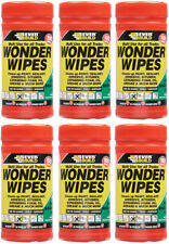 Everbuild Multi Purpose Wonder Wipes Hand Cleaners for Oil & Grease 100 tub x6