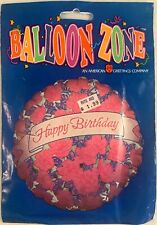 Vintage American Greetings Birthday Flowers Balloon NOS in Package 1990s USA