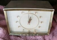 **Vintage**TESTED* 1957 ZENITH Mid Century Clock Radio Model Z524