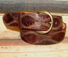 Vintage Montana Brown Genuine Lizard / Leather Western Dress Belt Size 30 New