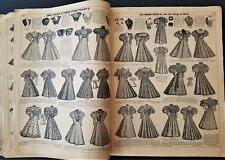1896 antique FASHION STANDARD PATTERN CATALOG athol ma LOGAN WILLEY sewing