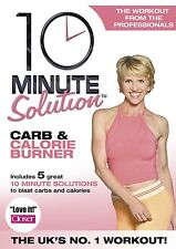 10 Minute Solution Carb And Calorie Burner (DVD, 2006) Exercise Fitness