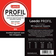 Leeda Profil Casts - 2 Droppers -4lb - 4X