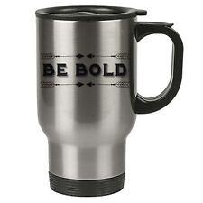 Taza de viaje - Be Bold - Acero Inoxidable - motovation, frases - REUTILIZABLE