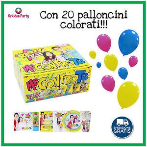 Kit Me Contro Te Festa Compleanno Set Coordinato Tavola Luì Sofì + 20 PALLONCINI