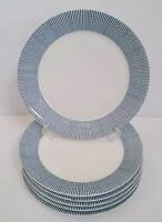 Set of 7 Royal Doulton London Pacific Blue Dots Dinner Plates 11 1/4""