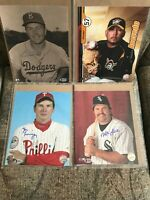 (11) MLB HISTORIC AUTOGRAPHS 8X10 PHOTO'S. BECKETT AUTHENTICATED!