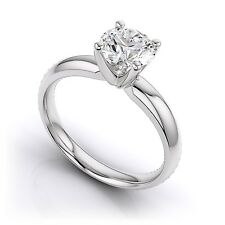 0.5 Ct TCW Diamond 14K White Gold Solitaire Bridal Engagement Anniversary Ring