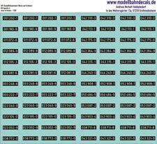 TT-Loknummern DB Dampf 001-052, Epoche 4, weiß a. Schwarz, Kreye Decals 120-1350