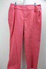 Denim & Co. Stretch Cotton & Polyester Blend Orangish Pink Jeans Size - 18WP