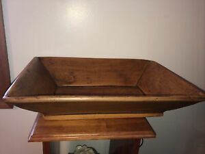 "Reproduction Treenware Primitive Resin Trencher Box Farmhouse 18"" wide"