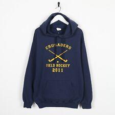 Vintage USA College Crusaders Field Hockey Big Logo Hoodie Sweatshirt Medium M