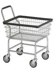 Laundry Cart 2.5 Bushel with wheels & Basket Heavy Duty & Handle - Very Durable!