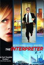 The Interpreter DVD Nicole Kidman Sean Penn