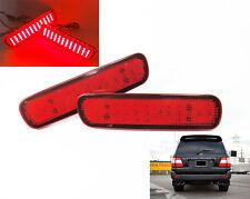 2x Red Lens LED Rear Bumper Reflector Tail Brake Stop Fog Light For Land Cruiser