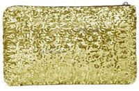 Ladies Party Black Silver Gold Sequin Glitter Bling Evening Clutch Bag Handbag