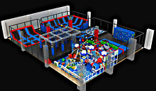 13,500 sqft Commercial Trampoline Park Dodgeball Climb Inflatable We Finance