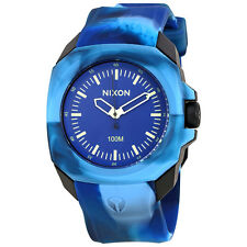Nixon Ruckus Blue Dial Mens Rubber Watch A3491726