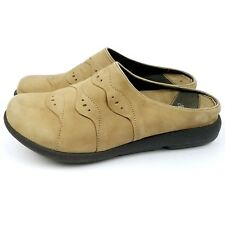 Dansko Pro Women Slides Tan Suede Leather Sandals Shoes Tan Size 37 / 6.5 - 7 US