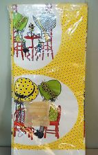 """NEW NOS Vintage 1972 Paper Crepe Tablecloth Tablecover - Holly Hobbie 54"""" x 96"""""""