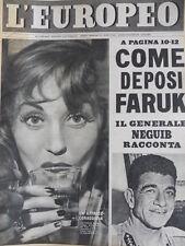 L' EUROPEO n°39 1952 Come deposi FARUK Il gen NEGUIB racconta [C77]