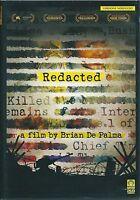 Redacted DVD Rent Versione Noleggio Nuovo Sigillato Brian De palma