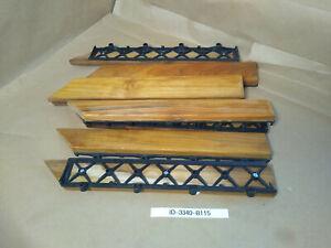 Bare Decor EZ-Floor Corner Trim 8-Pieces Interlocking Floor Solid Teak Wood