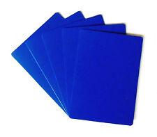 Set of 5 Casino Grade 100% Plastic Bridge Size Cut Cards - Rounded Corners  Blue