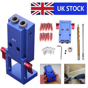 Pocket Hole Jig Kit System Mini Kreg Style Wood Working Joinery Step Drill Bit