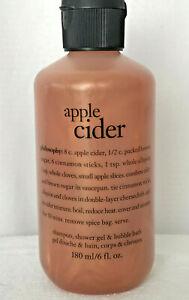 Philosophy Apple Cider Shampoo, Shower Gel & Bubble Bath 6 oz ~ New