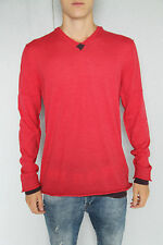 pull rouge angora mérinos extra fine M+F GIRBAUD T. XL NEUF/ÉTIQUETTE val 290€