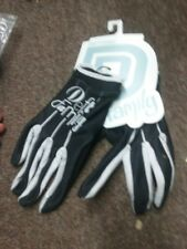 DEFT FAMILY GLOVES  BLACK &WHITE S M OR XL adult ATV NEW