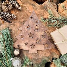 Rustic Rusty CHRISTMAS TREE Plaque Sign Home decoration Garden Stocking Filler