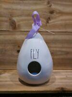 "NWT Rae Dunn ""fly"" birdhouse Teardrop With Bird Picture On Back"