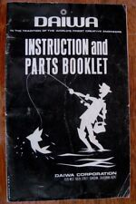Instruction & Part List - Daiwa Spinning and Fly Reels - NICE! - FREE SHIPPING