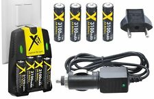 3100mAh 4AA BATTERY & HOME+CAR CHARGER FOR CANON POWERSHOT A1300