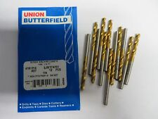 12 new pcs BUTTERFIELD Number 27 Screw Machine Length 118 HSS TiN Coated Drills