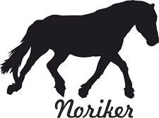 "2 x Auto Aufkleber NORIKER PFERD ""noriker horse""  Car Sticker"